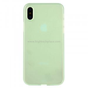 Pour iPhone X PP Housse de protection arrière (Mint Green) SP52MG2-20