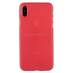 Pour iPhone X PP Housse de protection arrière (Rouge) SP452R5-20