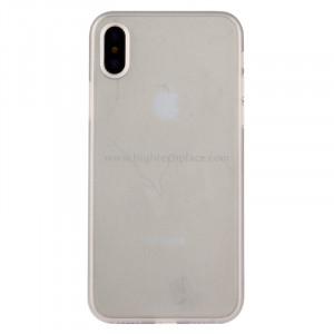 Pour iPhone X PP Housse de protection arrière (blanc) SP452W8-20