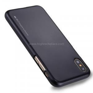 GOOSPERY MERCURY i JELLY pour iPhone X Métal et peinture à l'huile Soft TPU Housse de protection arrière (noir) SG864B5-20