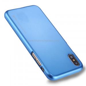 GOOSPERY MERCURY i JELLY pour iPhone X Métal et peinture à l'huile Soft TPU Housse de protection arrière (bleu) SG864L8-20