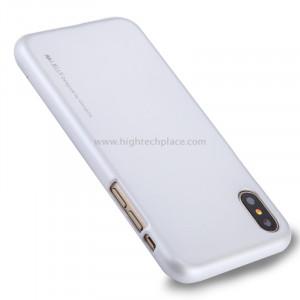 GOOSPERY MERCURY i JELLY pour iPhone X Métal et peinture à l'huile Soft TPU Housse de protection arrière (argent) SG864S7-20