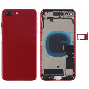 Couvercle de la batterie avec touches latérales et vibrateur et haut-parleur fort et bouton d'alimentation + bouton de volume Câble et plateau de carte pour iPhone 8 Plus (rouge) SH24RL1466-20