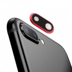 Lunette arrière pour appareil photo avec cache-objectif pour iPhone 8 Plus (rouge) SH185R1829-20