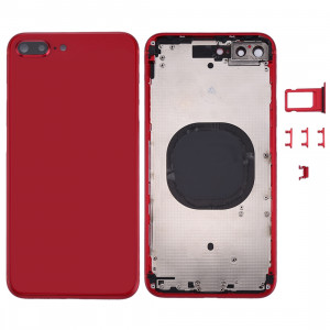 Couverture de logement arrière pour iPhone 8 Plus (rouge) SC22RL1343-20