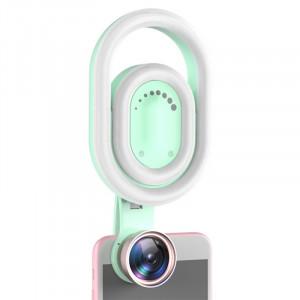Lumière de remplissage pour lentille grand angle Live Beauty HD pour téléphone mobile (vert menthe) SH32MG1483-20