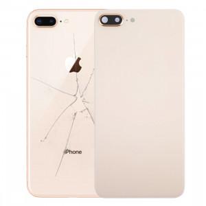 iPartsAcheter pour iPhone 8 Plus couverture arrière avec adhésif (or) SI47JL330-20