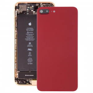 Couverture arrière avec adhésif pour iPhone 8 Plus (rouge) SH47RL22-20