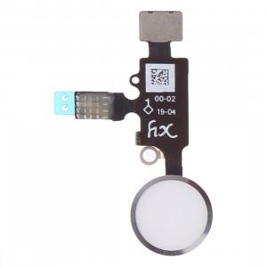 Bouton d'accueil design (2 ème) avec câble flexible pour iPhone 8 Plus / 7 Plus / 8/7 (Argent) SH609S1664-20