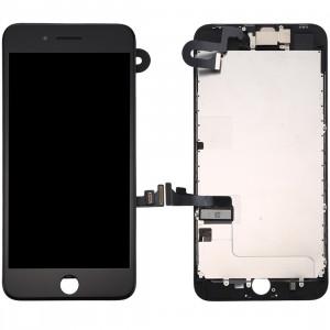 iPartsBuy 4 en 1 pour iPhone 8 Plus (caméra frontale + LCD + cadre + pavé tactile) Assembleur de numériseur (noir) SI802B110-20