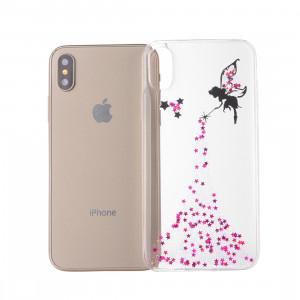 Étui époxy modèle ange souple pour iphone xs max 6.5 pouces (rose) SH027F1667-20