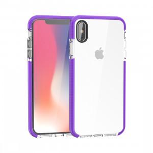 Etui en TPU souple très transparent pour iPhone XS Max (violet) SH085P786-20