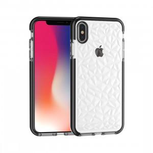 Housse en TPU Diamond Texture pour iPhone XS Max (Noir) SH512B796-20