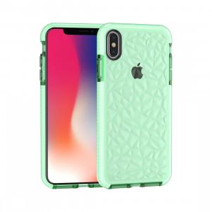 Étui en TPU Diamond Texture pour iPhone XS Max (Vert) SH512G437-20
