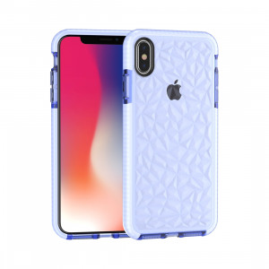 Coque TPU Diamond Texture pour iPhone XS Max (Bleu) SH512L208-20
