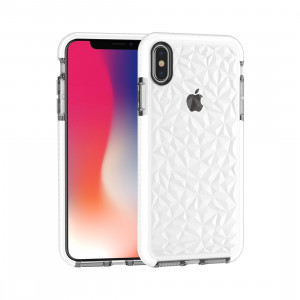 Coque TPU Diamond Texture pour iPhone XS Max (Blanc) SH512W115-20