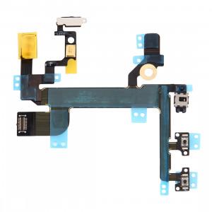 iPartsBuy pour iPhone SE Bouton d'alimentation et bouton de volume et câble Flexlight Flashlight SI0143760-20