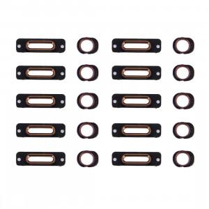 10 PCS iPartsAcheter 2 en 1 pour iPhone SE Port de charge support de retenue + anneau de prise casque (or rose) S174RG742-20