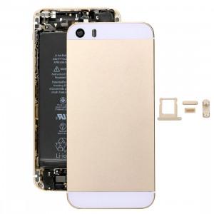 iPiècesAchet 5 en 1 pour iPhone SE Original (Couverture arrière + Porte-cartes + Touche de contrôle du volume + Bouton d'alimentation + Touche de vibreur de la touche de mise en sourdine) Couverture de boîtier de SI100J464-20