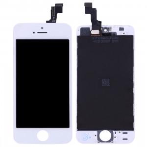iPartsBuy 3 en 1 pour iPhone SE (LCD + Frame + Touch Pad) Assemblage de numériseur (Blanc) SI001W431-20