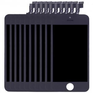 10 PCS iPartsAcheter 3 en 1 pour iPhone SE (LCD + Frame + Touch Pad) Assembleur de Digitizer (Noir) S102BT35-20