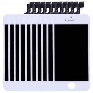 10 PCS iPartsAcheter 3 en 1 pour iPhone SE (LCD + Frame + Touch Pad) Assemblage de numériseur (Blanc) S102WT192-20