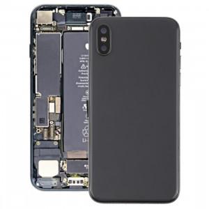 Couvercle de la batterie avec touches latérales et vibreur et haut-parleur fort et bouton d'alimentation + bouton de volume Câble câble et plateau pour cartes et adhésif de batterie pour iPhone X SH25BL1980-20