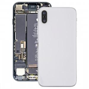 Couvercle de la batterie avec touches latérales et vibreur et haut-parleur fort et bouton d'alimentation + bouton de volume Câble câble et plateau pour cartes et adhésif de batterie pour iPhone X SH25WL983-20