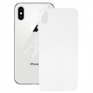 Cache-pile en verre à l'arrière avec cache pour appareil photo, grand trou pour caméra, pour iPhone X (blanc) SH34WL1248-20