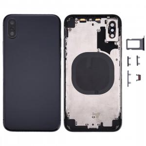 Couverture de logement arrière pour iPhone X (noir) SC24BL1650-20