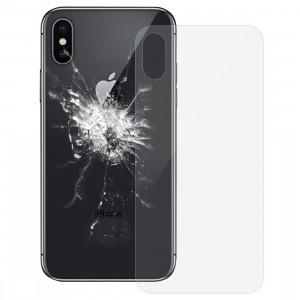 iPartsAcheter pour iPhone X Couverture de batterie en verre (transparent) SI033T674-20