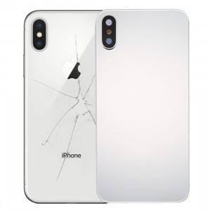 iPartsAcheter pour iPhone X Couverture arrière avec adhésif (Argent) SI02SL1381-20