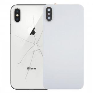 iPartsAcheter pour iPhone X Couverture arrière avec adhésif (blanc) SI02WL69-20
