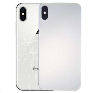 iPartsAcheter pour iPhone X Verre Miroir Surface Batterie Couverture Arrière (Argent) SI66SL306-20