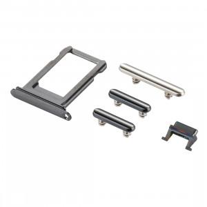 iPartsAchetez pour le plateau de carte d'iPhone X + la clé de contrôle de volume + le bouton d'alimentation + la touche vibrante de commutateur de sourdine (gris) SI321H1755-20