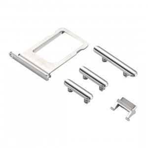 iPartsAchetez pour le plateau de carte d'iPhone X + la clé de contrôle de volume + le bouton d'alimentation + la clé de vibreur de commutateur de sourdine (argent) SI321S523-20