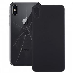 iPartsAcheter pour iPhone X Couverture de batterie en verre (noir) SI15BL1287-20