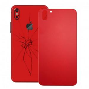 pour coque arrière en verre pour iPhone X (rouge) SH15RL124-20