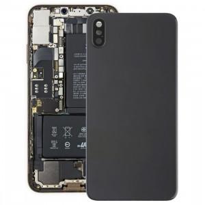 Coque arrière de batterie avec lunette arrière et objectif et adhésif pour iPhone XS Max (Noir) SH35BL1253-20