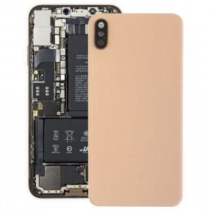 Coque arrière pour batterie avec lunette arrière, lentille et adhésif pour iPhone XS Max (Or) SH35JL1574-20
