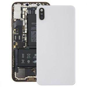 Coque arrière de batterie avec lunette arrière et objectif et adhésif pour iPhone XS Max (Blanc) SH35WL1120-20