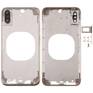 Coque arrière transparente avec objectif de caméra, plateau de carte SIM et touches latérales pour iPhone XS Max (or) SH667J1747-20