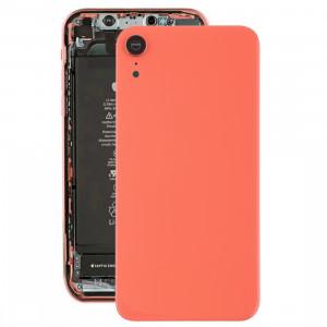 Coque arrière de batterie avec lunette arrière et objectif et adhésif pour iPhone XR (rose) SH26EL842-20