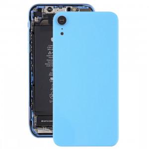 Coque arrière de batterie avec lunette arrière et objectif et adhésif pour iPhone XR (Bleu) SH26LL1915-20
