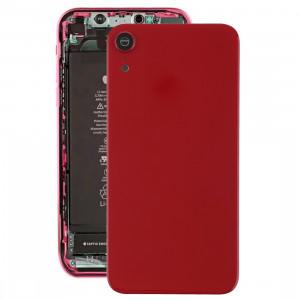 Coque arrière de batterie avec lunette arrière et objectif et adhésif pour iPhone XR (rouge) SH26RL1048-20