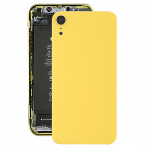 Coque arrière de batterie avec lunette arrière et objectif et adhésif pour iPhone XR (Jaune) SH26YL232-20