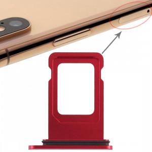 Double plateau de carte SIM pour iPhone XR (double carte SIM) (rouge) SH036R60-20