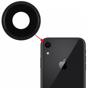 Lunette arrière pour appareil photo avec cache-objectif pour iPhone XR (noir) SH312B1281-20