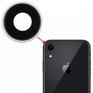 Lunette arrière pour appareil photo avec cache-objectif pour iPhone XR (blanc) SH312W317-20