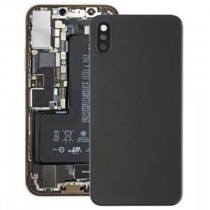 Coque arrière de batterie avec lunette arrière et objectif et adhésif pour iPhone XS (Noir) SH54BL923-20